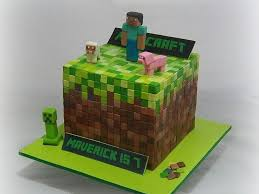 this minecraft game cake was made for little maverick who is