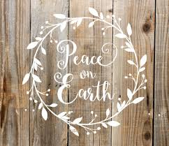 peace on earth vinyl decal christmas sign make your own zoom