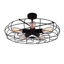 Semi Flush Mount Ceiling Light Baycheer Hl371436 Industrial Vintage Style 110v Semi Flush Mount