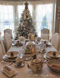 white christmas tablescapes cheminee website