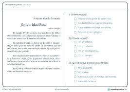 colombia libro de lectura grado 6 fichas con ejercicios de lengua mundo primaria