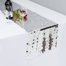 silver sequin table runner x 108 in payette sequin table runner silver