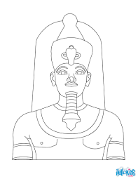 pharaoh amenhotep 3 coloring pages hellokids com