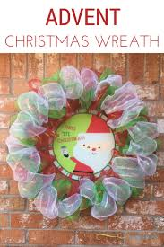 reindeer deco mesh christmas wreath