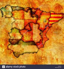 Spain Regions Map by Catalonia Region On Administration Map Of Regions Of Spain With