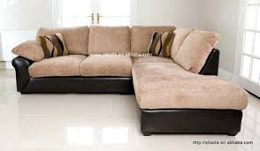 Leather And Upholstered Sofa Leather And Fabric Sofa Combinations Miketechguy