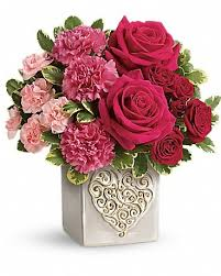 online florist swirling heart bouquet online florist with flower delivery in
