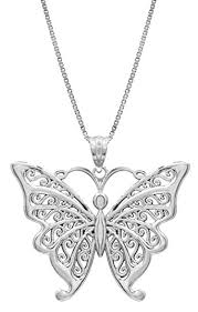 butterfly pendant necklace silver images Sterling silver butterfly necklace pendant with jpg
