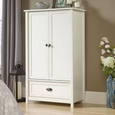 Sauder Bedroom Furniture Amazon Com Sauder County Line Armoire In Soft White Kitchen U0026 Dining