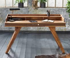 Schreibtisch Rund Schreibtisch Shan 150x60 Cm Sheesham Shina Massivholz Möbel Tische