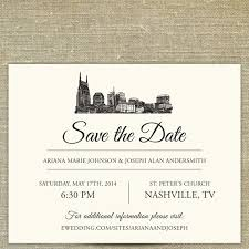 wedding invitations johnson city tn nashville skyline save the date tennessee city skyline