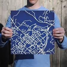 Washington And Lee Campus Map by Washington And Lee University Campus Map Art City Prints