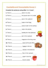 Countable And Uncountable Words Worksheet Countable Uncountable Nouns Worksheet Free Esl Printable