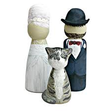 cat wedding cake topper groom and cat wedding cake topper peg doll lotty lollipop