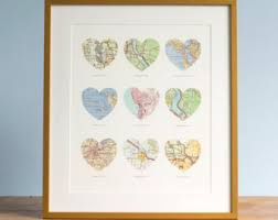 wedding gift map personalized map wedding gifts anniversary by agierdesign