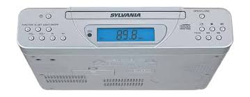 kitchen clock radio under cabinet amazon com sylvania skcr2613c under cabinet kitchen cd clock
