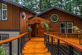 rustic deck with pathway in bellingham wa zillow digs zillow