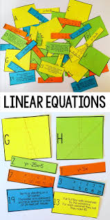 linear equation card match slope intercept form math
