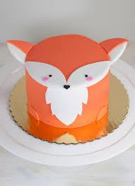 fox mini animal cake animal cake pinterest animal cakes
