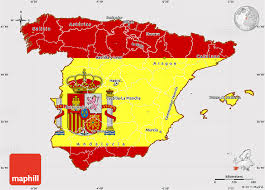 maps of spain flag simple map of spain
