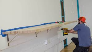 best image of wall mounted bar table all can download all guide butcher block bar mounted to design studio wall