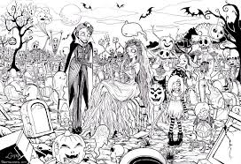 free printable halloween coloring page adults coloring home
