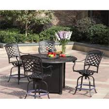 darlee counter height propane fire pit dining table