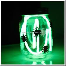 spooky glow jars halloween craft