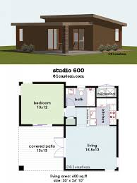 house plan studio600 small house plan 61custom contemporary