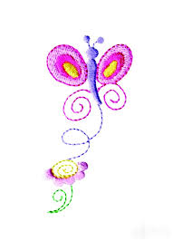 and flower embroidery design