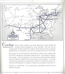 American Airlines Route Map by American Airlines Timetables World Airline Historical Society