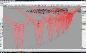 Distance Between Two Points Map Parametric Model With Embedded Force Analysis Living Bridge