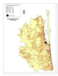 Population Density World Map by Map Of Population Density For Gold Coast Figure 2 Of 4