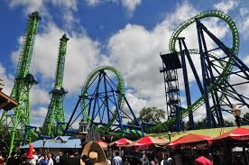 Six Flags New England Park Map Riding Goliath Roller Coaster At Six Flags New England Masslive Com