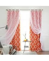 Sheer Orange Curtains Deals Sales On Orange Sheer Curtains