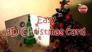 homemade christmas and new year 3d card 3d greeting card white