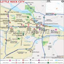 of arkansas cus map rock map the capital of arkansas