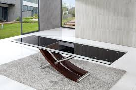 italian extendable dining table dining tables glass extending dayri me