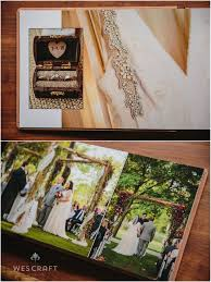 Rustic Wedding Photo Albums Keepsake Album Maple Cover Moss Box Bronze Lining Wes Craft
