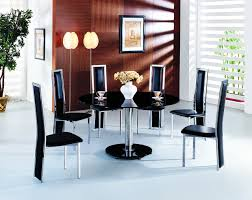 alba square black glass dining table with alison chairs modenza
