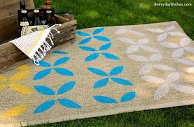 Diy Outdoor Rug With Fabric Diy Outdoor Rug With Fabric How To Turn A Canvas Drop Cloth Into