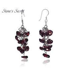 Garnet Chandelier Earrings Buy Garnet Chandelier Earrings And Get Free Shipping On Aliexpress