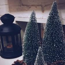 10 25cm tabletop tree assorted pine trees decoration