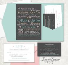Pocket Invitations Tri Fold Pocket Invitation Jeneze Designs