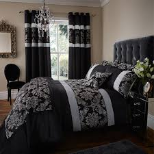 catherine lansfield home glamour jacquard faux silk duvet cover