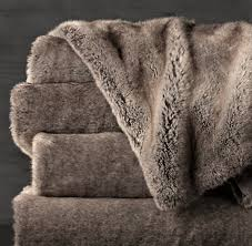 faux fur throw rh