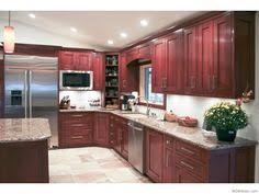 Kitchen Cabinet Cherry Modern Flat Panel