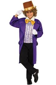 party city halloween costumes boy willy wonka child costume purecostumes com