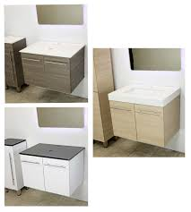 wall mount vessel sink vanity windbay 36 wall mount floating vanity sink bathimports 70 off