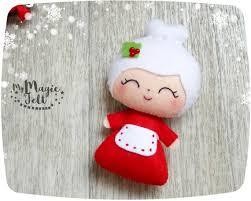 ornaments mrs claus felt ornament for